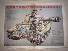 1970's Panther Tank British Newspaper Informational Leaflet Poster Original