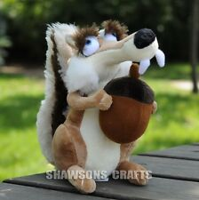 """ICE AGE PLUSH STUFFED TOYS 7"""" SCRATTE THE FLYING SQUIRREL SOFT DOLL"""