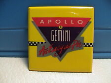 APOLLO BY DE GEMINI AS EASY AS PIE SPACE TRAVEL MISSION TO LUNAR MOON PINBACK