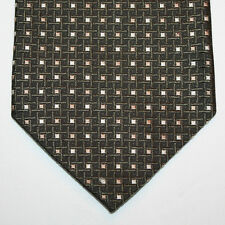 NEW Bruno Pirttelli Silk Neck Tie Dark Green with Beige and Silver Pattern 927