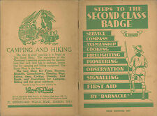 1938 UNITED KINGDOM / BRITISH SCOUTS Book - Steps to the Second Class Badge