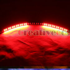 "2x 60CM 24"" Black 48LEDs Knight Rider SMD LED Scanner Strobe Flash Strip Light"