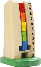 VOILA TOY kid's wooden educational COUNTING TOWER learn to add subtract, colors