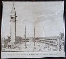 ZUCCHI FRANCESCO : Prospetto della Piazza di S. Marco uerso la Chiesa di S. Gim