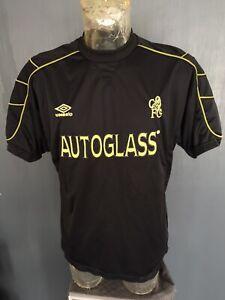 Chelsea Football Shirt 1999-01 Rare Black Umbro Training Top Mens LARGE L CFC