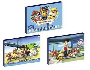 3 x PAW PATROL set f CANVAS ART BLOCKS/ WALL ART PLAQUES/PICTURES