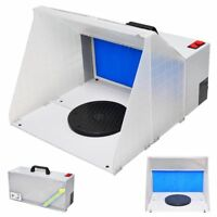 Portable Airbrush Paint Spray Booth Paint Set w/ Turn Table For Toy Model Parts