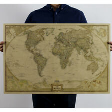 "28""x18"" Retro World Map Paper Gothic Antique Poster Wall Chart House Room Decor"