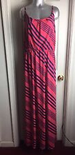 NEW Rouge Collection- PLUS 4X - MAXI LONG SUMMER STRIPED DRESS STRETCH- Womens