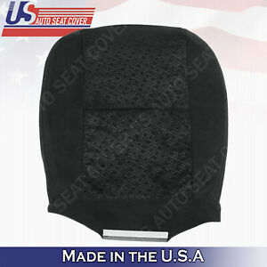 2007 2008 Chevrolet driver bottom OEM replacement cloth seat cover ebony black