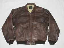 *AVIREX FLIEGER PILOTEN LEDERJACKE*BRAUN*TYPE G2*AERONAUTICS*AIR FORCE*GR: M*TOP