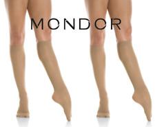 Mondor Semi-Opaque Knee High Adult Figure Skating Socks Tights 82 Suntan 2 Pair