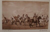 THE VANISHING RACE - - PHOTOGRAVURE - IN BATTLE LINE - GENUINE,VINTAGE 12