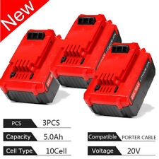 Lots 3 pcs PORTER CABLE PCC680L 20V 20 Volt Max 5.0 Amp Hour Lithium-Ion Battery