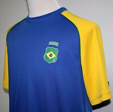2010 FIFA South Africa World Cup Futbol Soccer Brasil Shirt Large SEE PHOTOS!