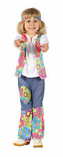 Tout-petit hippy girl costume robe fantaisie années 70 flower power Groovy Chick outfit