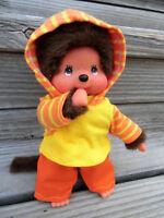 Kleidung  PULLI + HOSE  für  MONCHICHI Gr.20 Hoodie Kapuzenpulli gelb orange NEU