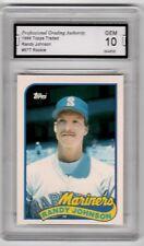 1989 Topps Traded #57T Randy Johnson PGA Graded 10 Mariners Baseball Rookie HOF