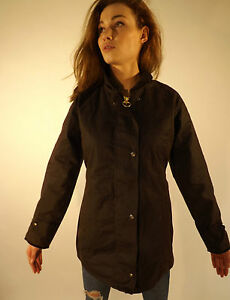 Wax Jacket Ladies New Made In England Fitted Coat Dark Brown XS S M L XL