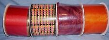 """lot of 4 bolts of  2 1/2"""" fall colored wire edged ribbon"""