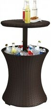 Keter Cool Bar 7.5 Gal Resin Rattan Drink Cooler Patio Outdoor Garden Table New