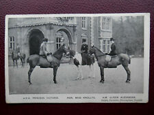 Princess Victoria Miss Knollys Queen Alexandra SANDRINGHAM Norfolk 1905 Horses