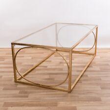 Gin Shu Gold Gilt Leaf Parisienne Metal Coffee Table