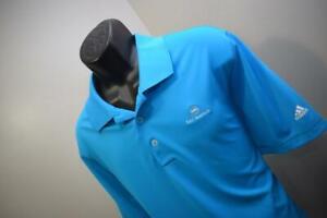 42309 Mens Adidas Golf Puremotion Blue Short Sleeve Golf Polo Shirt Sz XL