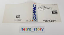Nintendo Game Boy Marble Madness Notice / Instruction Manual
