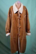 Damen Lamm-Fell Mantel Gr 38/M Leder echt shearling weit vintage retro
