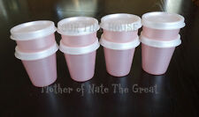 TUPPERWARE Midgets and Smidgets Set 8 Mini Spice Salad Dressing Containers PINK