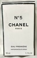 In Original Box Chanel No. 5 Eau De Parfum Premiere Spray 1.7 oz Bottle 80% FULL