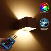 RGB LED Wandleuchte Wandlampe Flur Strahler Licht Up Down Innen 3W Fernbedienung