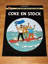 TINTIN POSTER LARGE - COKE EN STOCK / RED SEA SHARKS - 70 x 50 cm MINT NEW RARE