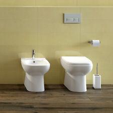 Sanitari filomuro water e bidet con copriwc Origin in ceramica 35 x 50h cm