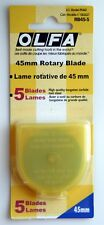 Genuine Olfa Rotary Cutter Blades 5pc 45mm RB45-5 Sealed Package