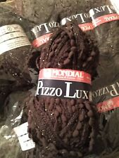 Mondial Pizzo Lux - Scarf/Shawl  Chocolate  #0948 10 Sks