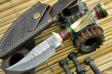 Custom Damascus Steel Hunting Knife Handmade With Stag Horn Handle (Z250)