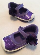 New Morgan Milo Purple Glitter Patent Leather Mary Jane Shoes sz 5