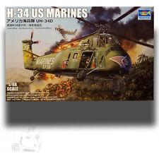 Trumpeter 1/48 Sikorski H-34D Marine 'Choctaw' Helicopter Kit 02882