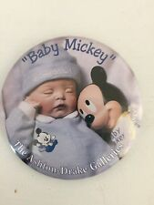 ~ASHTON -DRAKE GALLERIES PIN *Baby Mickey Button Advertising Souvenir Pin