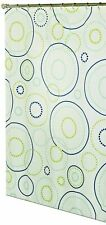 Metro Luxe Bath Fabric Shower Curtain Mimosa White Floral New