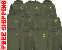 Embroidered Cap badge Army HOODIE SWEATER REME  RE PWRR AGC AAC RHA RIFLES RLC