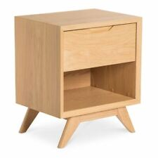 ERIKA SCANDINAVIAN WOODEN OAK BEDSIDE TABLE WITH DRAWER