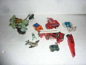Vintage Lot of 7 Transformers Action Figure Toys Bandai Takara Hasbro 1980's S-8