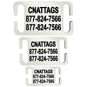 Stainless Steel Slide-On, Pet ID Tags Dog Tags Personalized