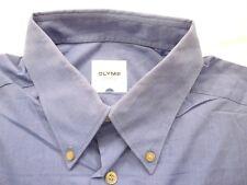 E7948 Olymp Tendenz Businesshemd Kombimanschette 41 dunkelblau meliert Unifarben