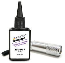 Microtec UV-Kleber   50g   mit UV-Taschenlampe   Aushärtung in wenigen Sekunden