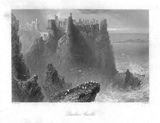 1840 Irlanda-Vista del castillo Dunluce condado de Antrim Bushmills (265)