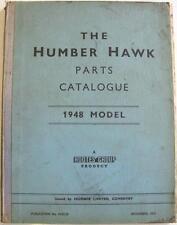 Humber Hawk 1948 MODELLO BERLINA ORIGINALE Car Parts List NOV 1951 #H181/R